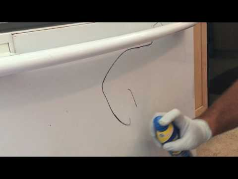 Remove Permanent Marker from Appliances and Cabinets with Coppertone Sunscreen