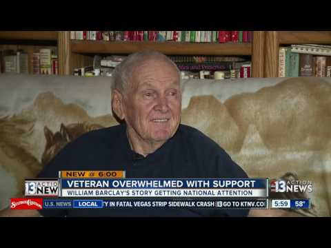Veteran overwhelmed with support after his flags were burned