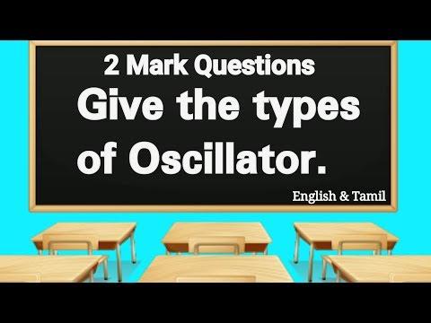 Types of Oscillator