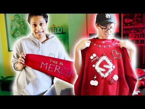 MAKING UGLY CHRISTMAS SWEATERS FOR FANS
