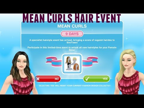Simsfreeplay - Mean Curls Hair Event