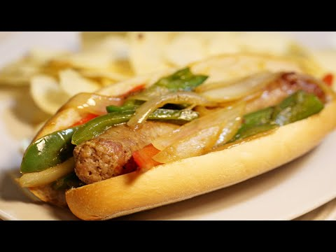 Sausage Pepper and Onion Sandwich