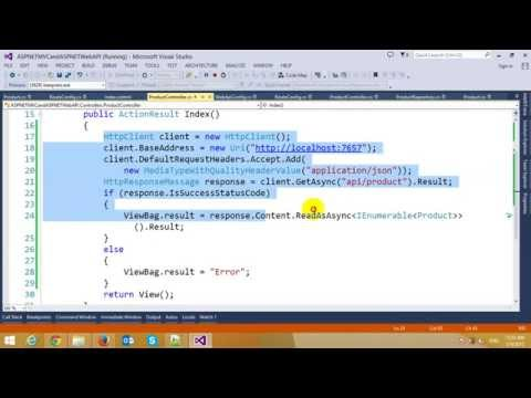 Consuming ASP.NET Web API in ASP.NET MVC Application