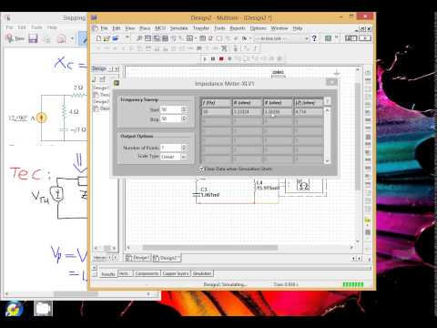 Analyse AC Circuit using thevenin's theorem in Multisim