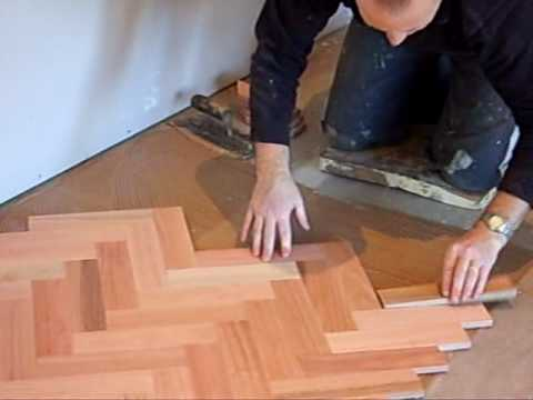 Steve Coleman laying Parquetry Flooring