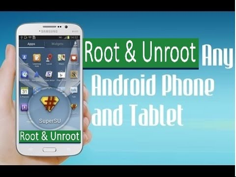 how to Root and Unroot almost any android device without a computer ( New Easily One Click Method )