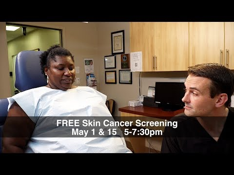 Prevent Skin Cancer: Free Skin Cancer Screening May 1 & 15, 2018