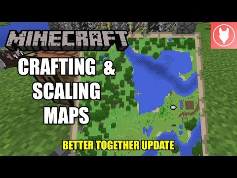 Minecraft Bedrock - Crafting & Scaling Maps Tutorial  ( Xbox / MCPE / Windows 10 )