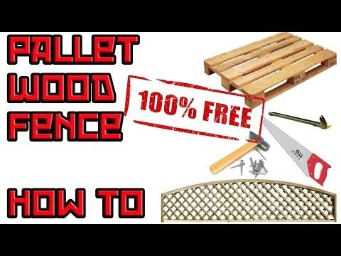 Make a Pallet Fence Trellis - ITS FREE!
