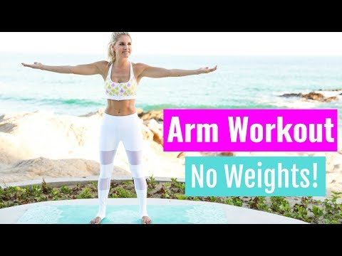 Arm Workout, No Weights! - UPPER BODY TONE | Rebecca Louise