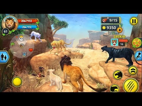 ► Wild Lion The King Of The Jungle - Lion Family Sim Online (Area730 Simulator Games) Gameplay video