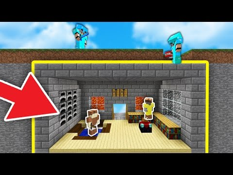 100% SECRET TROLL HOUSE UNDER THE MAP! | Minecraft SKYWARS (TROLLING)