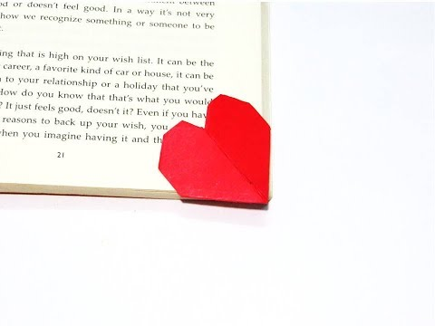 Heart Shaped Book Marker / Bookmark DIY