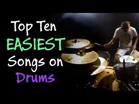 Top Ten EASIEST Songs on Drums