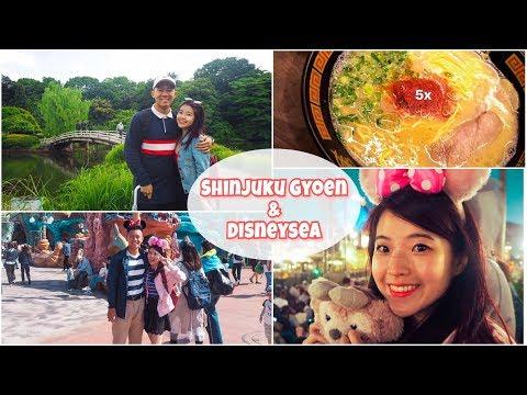 We're in Tokyo! Shinjuku Gyoen, Disneysea and Ichiran! | Japan Travel Vlog (1)