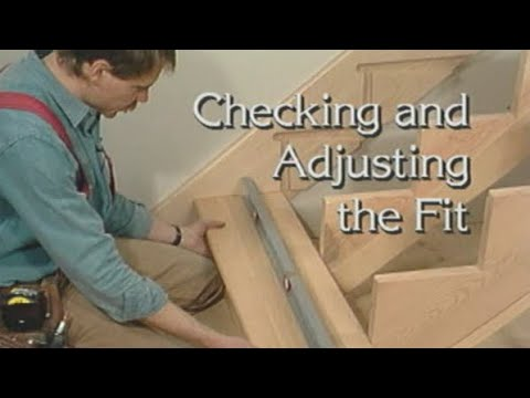 Checking and Adjusting step stairs