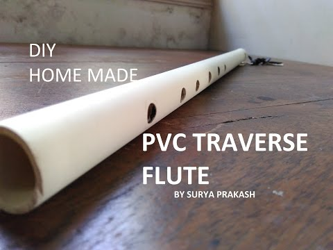 traverse pvc flute diy home made by trash recycler