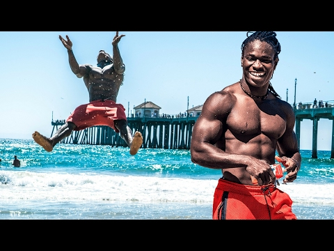Beach Beasts! Alseny and Saliou Huntington Beach Beast Tribe Acrobats from West Africa