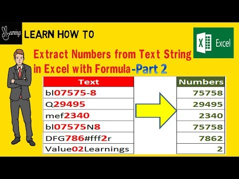 Extract Numbers from Text in Excel Part2 (Hindi)| Excel Tutorial | Value Learnings