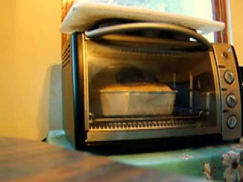 Baking a normal-looking loaf of bread in the toaster oven