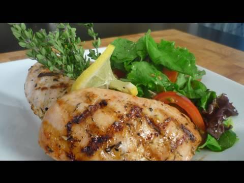 Grilled Summer Lemon Chicken with Spring Mix Salad