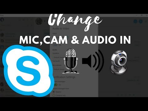 How to Change Mic, Webcam and Speaker in Skype Software