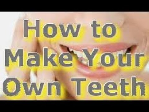 How To Make Your Own False Teeth - Make Dentures at Home