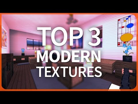 Minecraft PE 1.2 - TOP 3 BEST MODERN TEXTURE PACKS - MCPE 1.2 iOS / Android