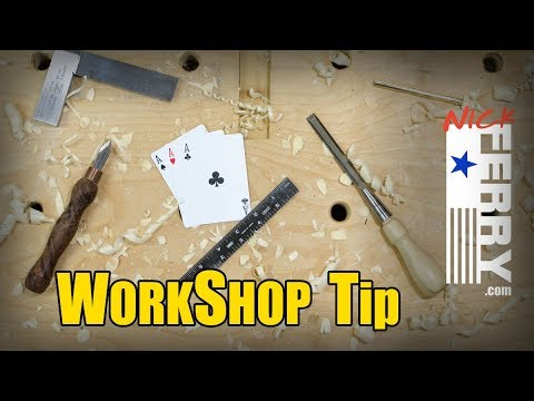 Ⓕ Drill Press Tip - Using Playing Cards in the Workshop
