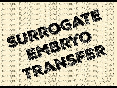 SURROGATE EMBRYO TRANSFER [[Surrogacy Q&A]]