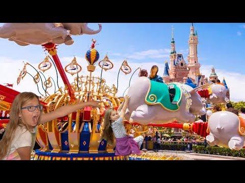 DUMBO RIDE Disneyland Paris Kids in Amuseum Park Best Carousel