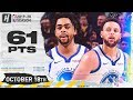 Stephen Curry amp D39Angelo Russell DESTROY THE LAKERS COMBINED Highlights 20191018 61 Points