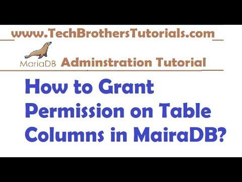 How to Grant Permission on Table Columns in MairaDB - MariaDB Admin Tutorial
