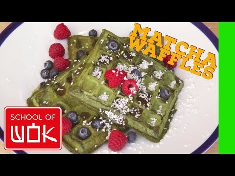 How to Make Unbelievably Tasty Matcha Waffles