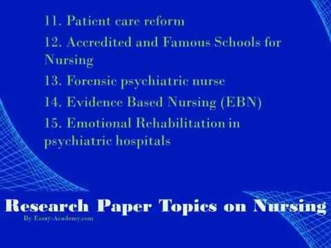 Research Paper Topics on Nursing