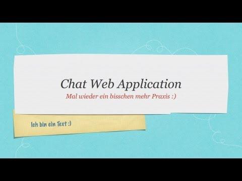 Java Chat Anwendung Tutorial mit Servlets #1  #Web