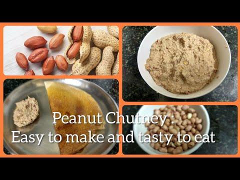 PEANUT CHUTNEY: EASY & SIMPLE