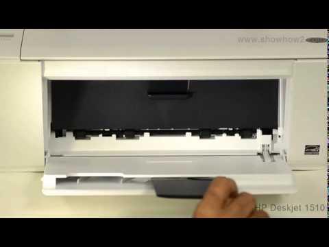 HP Deskjet 1510 All-in-One Printer - Installing Ink Cartridges