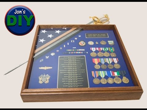Build your own Standard Military Shadowbox  DIY