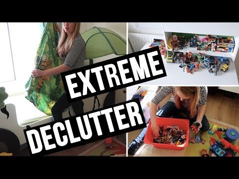 EXTREME DECLUTTER AND SPEED CLEAN MY SONS ROOM - CLEAN WITH ME - A CHILDMINDING MUMMY