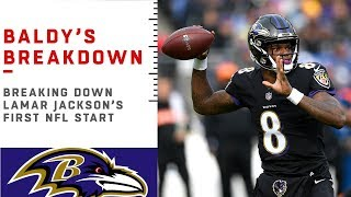 Download Breaking Down Lamar Jackson's First NFL Start   NFL Film Review Video