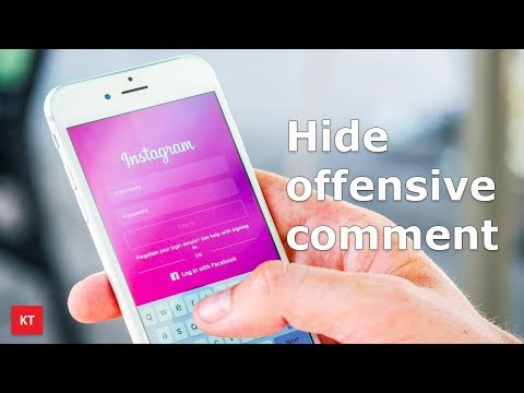 How to hide offensive comment on your Instagram account