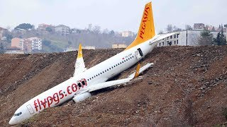 Turkish plane goes off runway meters away from sea