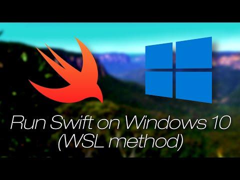 Apple Swift on Windows 10 (WSL method)