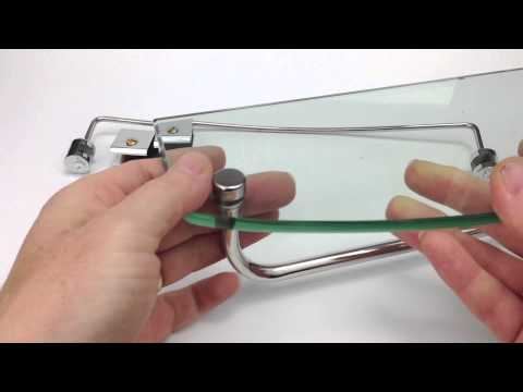 Glass Shelf - Assembly and Installation in an AquaLusso Shower