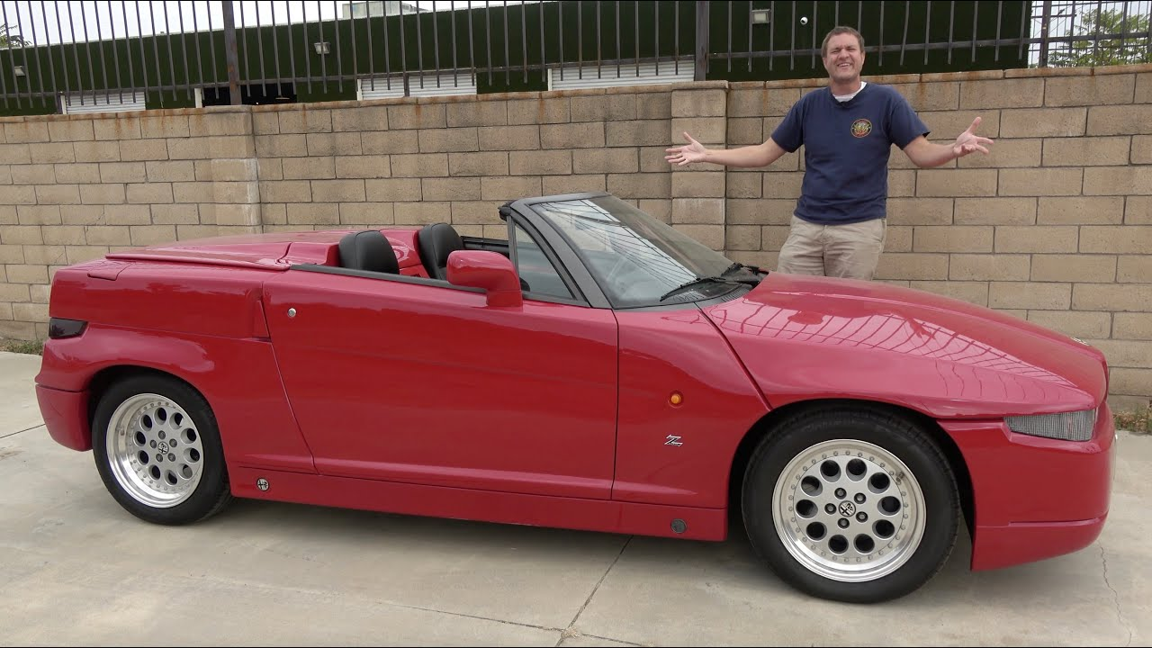 The Alfa Romeo RZ Is One of the Strangest 1990s Sports Cars