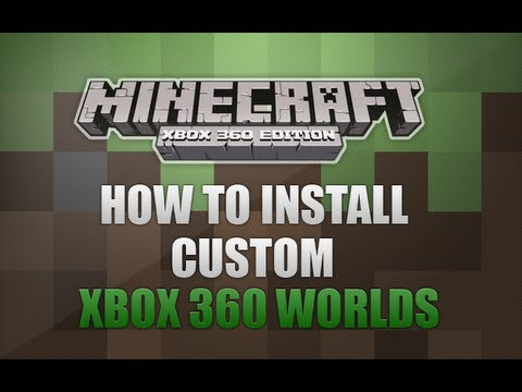 Minecraft Xbox 360 - How To Install Custom Worlds *VOICE TUTORIAL*