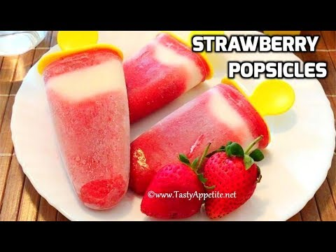 Strawberry Popsicles / Strawberry Yoghurt Ice Cream / Summer Special Recipes
