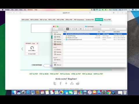How to convert JPG to PDF on mac or PC