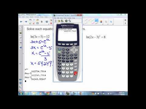 sec8 6 Alg II Natural Logarithms